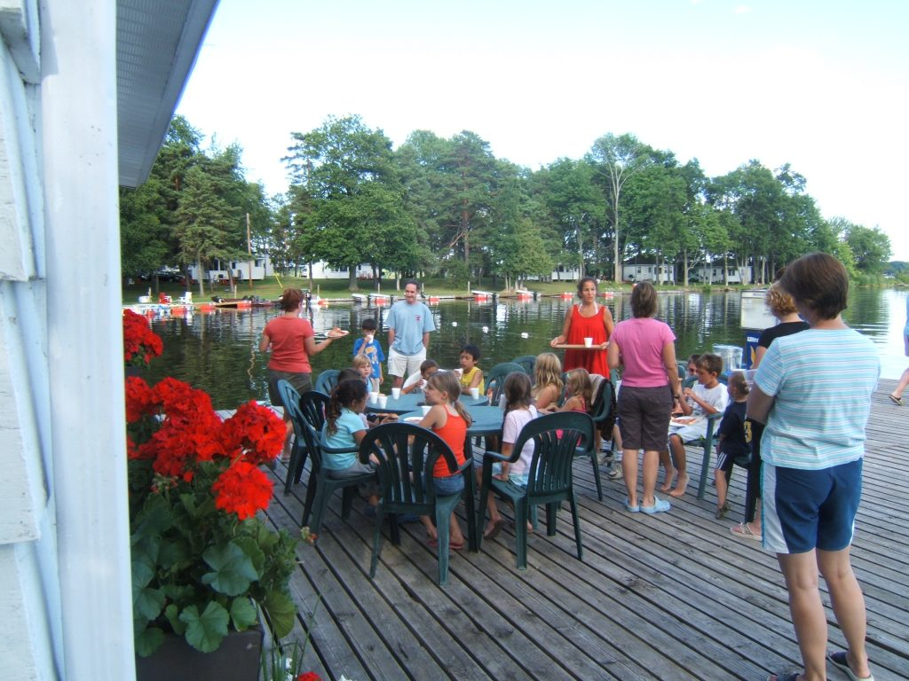 kids program on dock