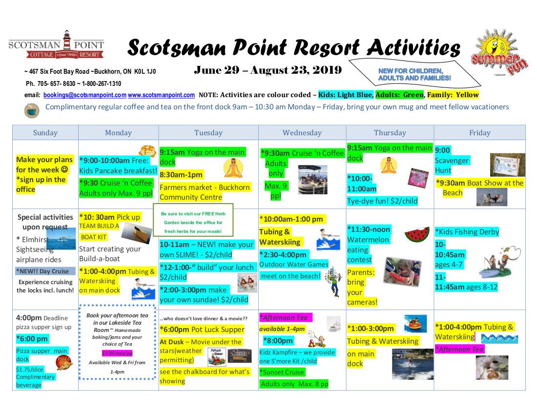 Scotsman Point Activities 2019 - working copy