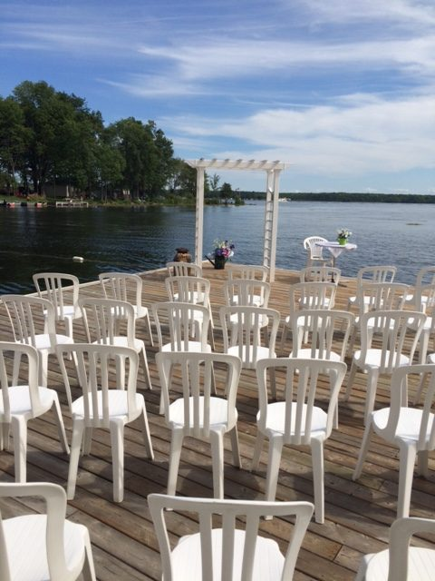 dock wedding